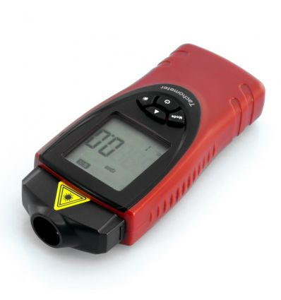 Digital Laser Tachometer w/ rps + rpm Measure
