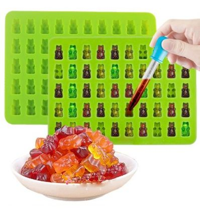 2 x 50 Jelly Bear Silicone Mold IM-HC2332 Home & Office
