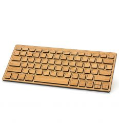 Portable Bluetooth Bamboo Keyboard