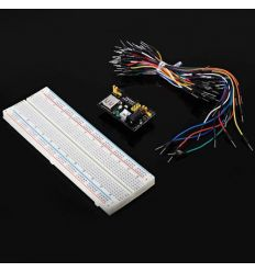 TB - 00013 DIY Kit 830 Hole Breadboard + Power Supply Module + 65 Jump Wires – Mixed Colours