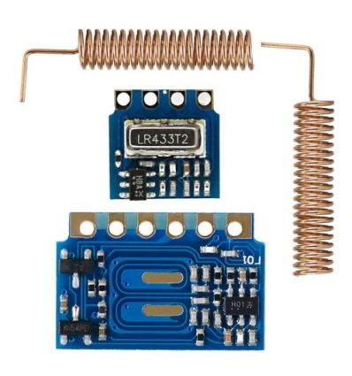 LDTR-GN004 Mini 433MHz RF Transmitter / Receiver with Spring