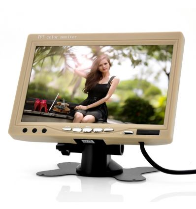 7 Inch Car Headrest Monitor (Tan) IM-ECL-7019-TAN-2GEN DIY &