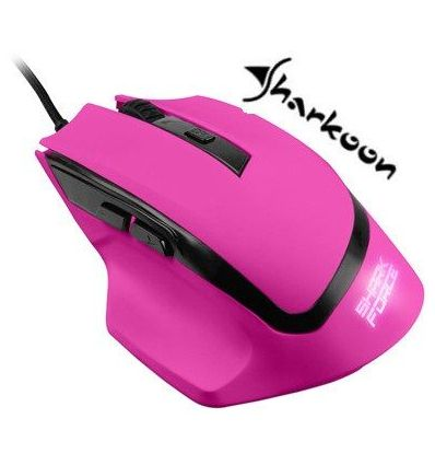 Sharkoon SHARK Force Gaming Optical Mouse: Pink 4044951014002