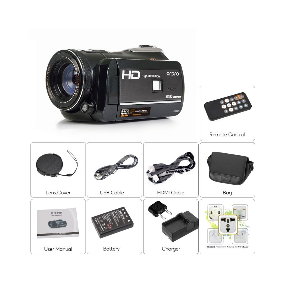 buy ordro full hd digital video camera online in south africa. Black Bedroom Furniture Sets. Home Design Ideas