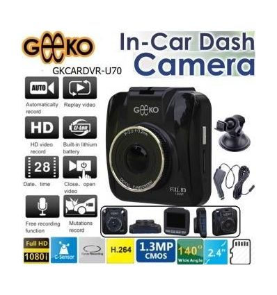 Geeko In-Car Dash Cam DVR GKCARDVR-U70 DIY & Auto