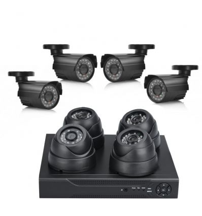 4 Indoor + 4 Outdoor Camera Surveillance Kit Discontinued Home