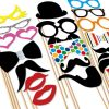20pc Funky Wedding & Party Photobooth Props on Stick