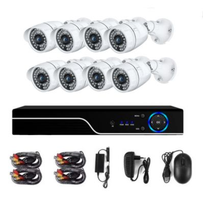 Anni 4CH CCTV Kit Full HD AHD 4 Security Camera System