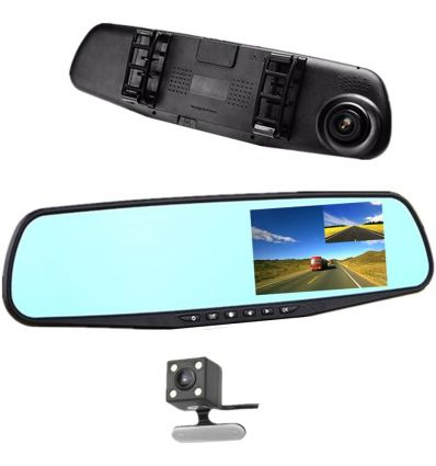 "4.3"" HD Rearview Mirror Car DVR Reversing Kit"