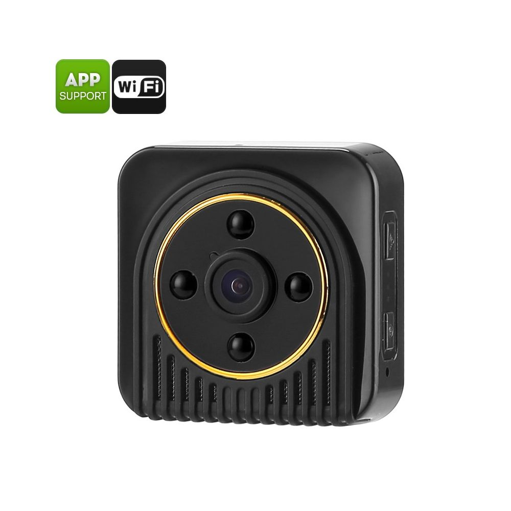 mini wifi camera 10mp cmos 720p hd footage 150 degree angle motion detection rotating. Black Bedroom Furniture Sets. Home Design Ideas