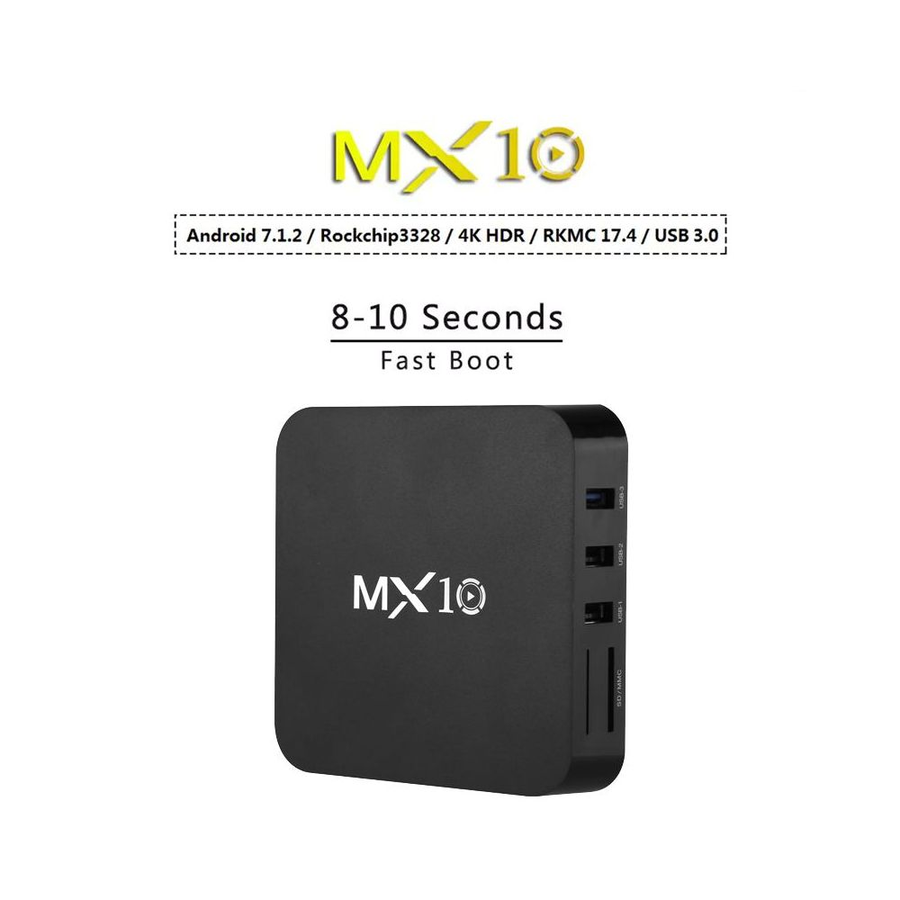 MX10 Android TV Box - Android 7 1, 4K Support, 3D Media