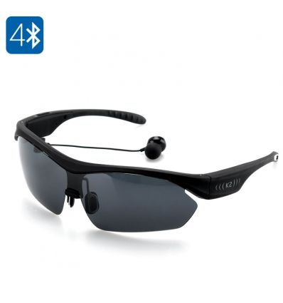 K2 Polarized Bluetooth Sunglasses (Black) IM-ACP-E427-Black TV